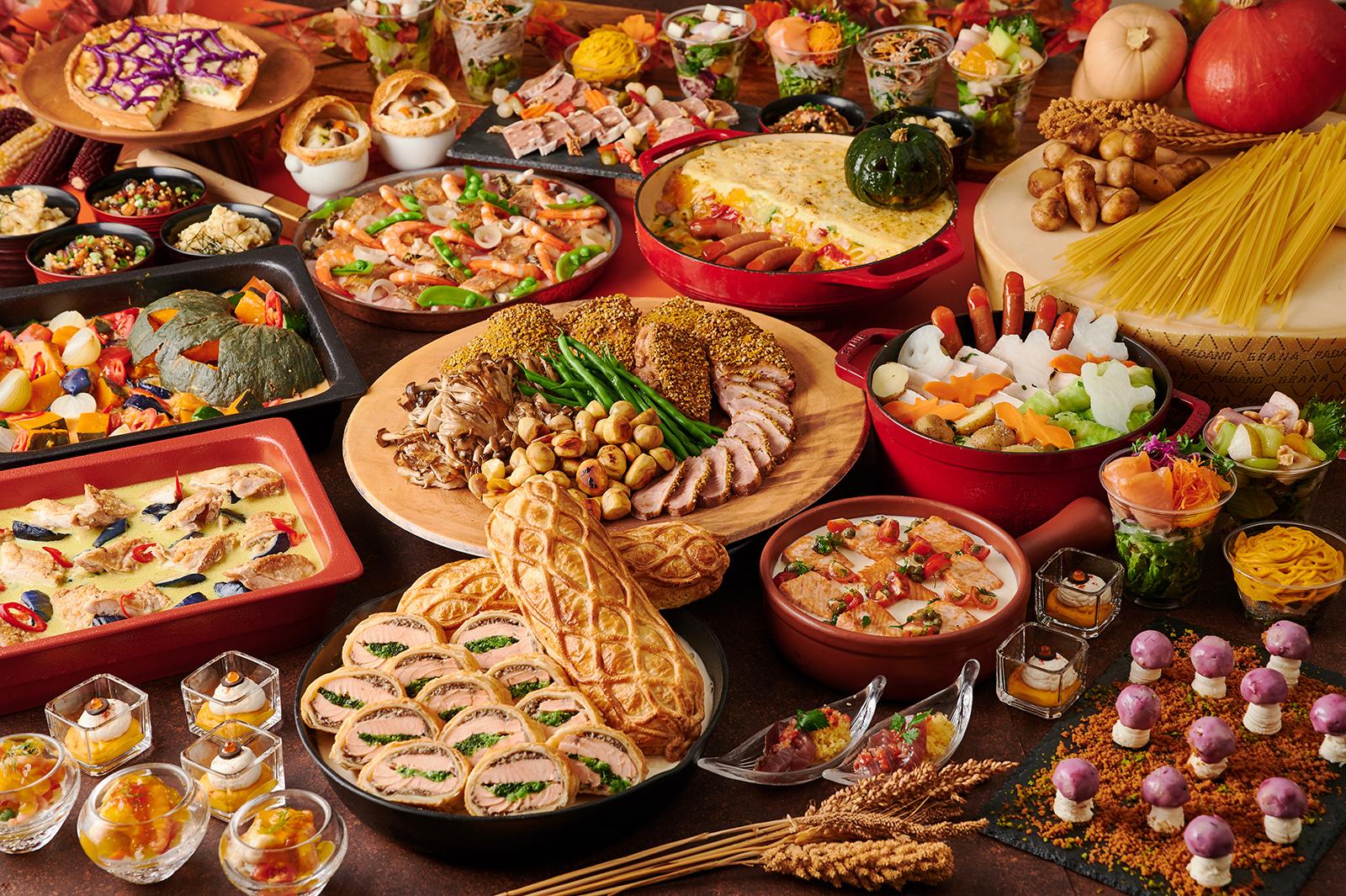 食材が豊かな「実りの秋」をたっぷり味わえる料理やハロウィンスイーツをライナップ