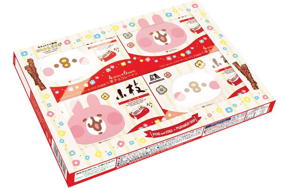 ▲ピスケ&うさぎ小枝<ミルク>4個セット 1,080円(税込)