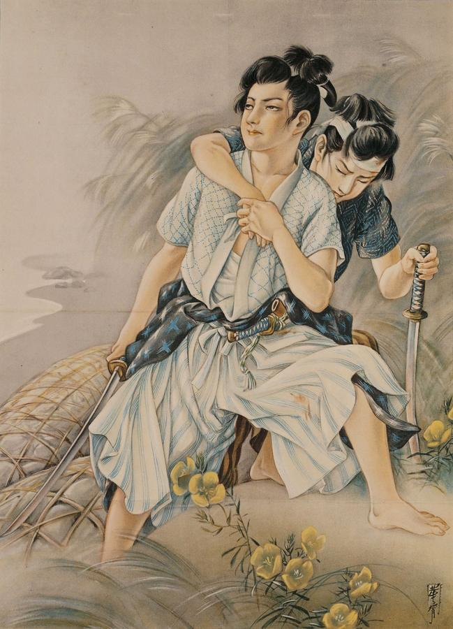高畠華宵《月下の小勇士》1929 、弥生美術館[後期展示]