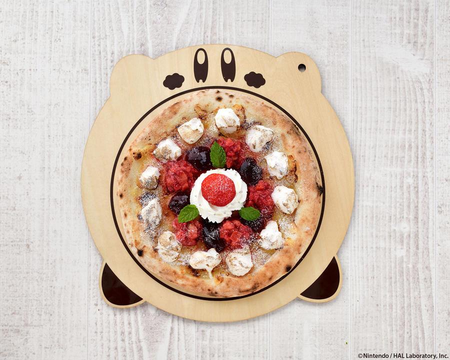 ▲カービィカフェの本格窯焼きピッツァ~ベリーベリーホワイトチョコレート~ 1,480円(税別)