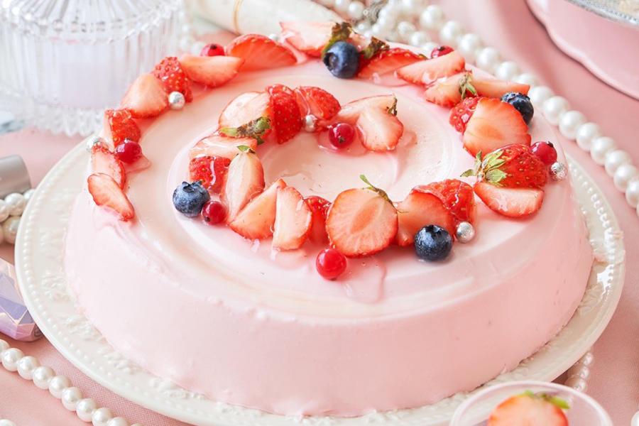 ▲ピンクチョコレートのストロベリームース
