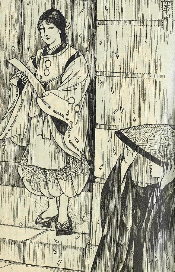 ▲「文芸名作絵画読本 秋夜長物語 高畠華宵/画 1926年11月『婦人世界』