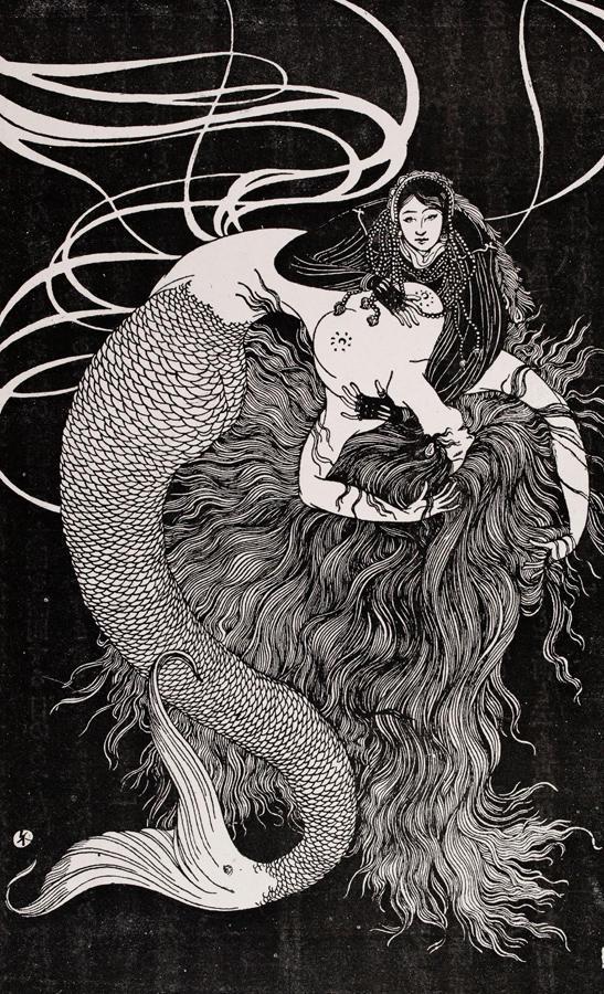 ▲「人魚の嘆き」 谷崎潤一郎/作 水島爾保有/画 1919年