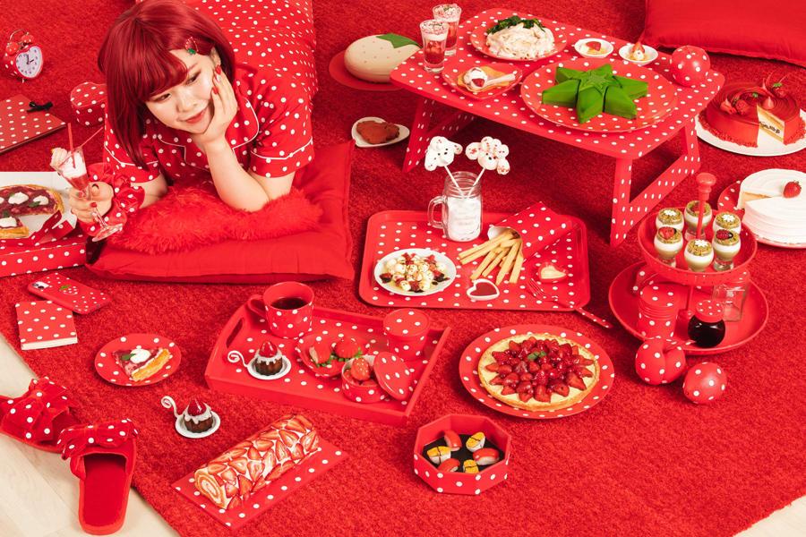 ▲ヒルトン東京ベイ デザートビュッフェ Only Love Strawberry キービジュアル
