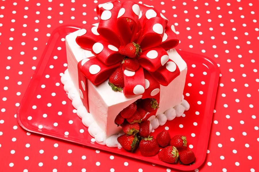 ▲ストロベリーショートケーキのプレゼントボックス
