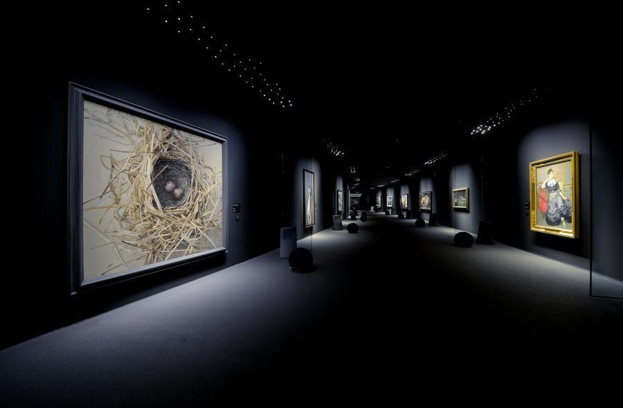 ▲代表作の展示風景(2013年)
