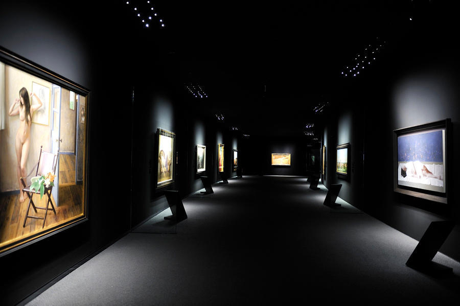 ▲代表作の展示風景(2010年)
