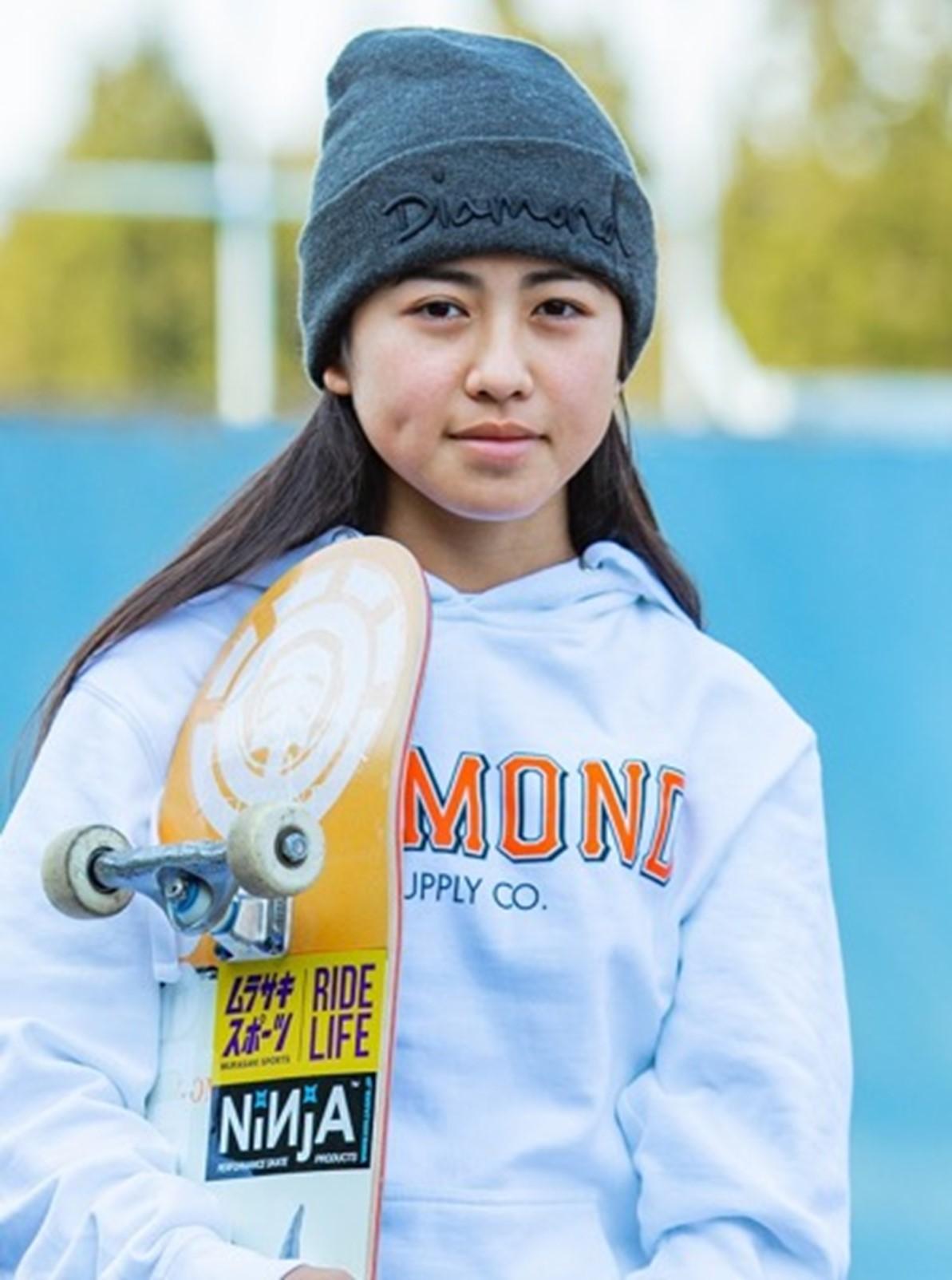 ▲中山楓奈さん 東京五輪 2020 スケートボード 女子ストリート 銅メダリスト
