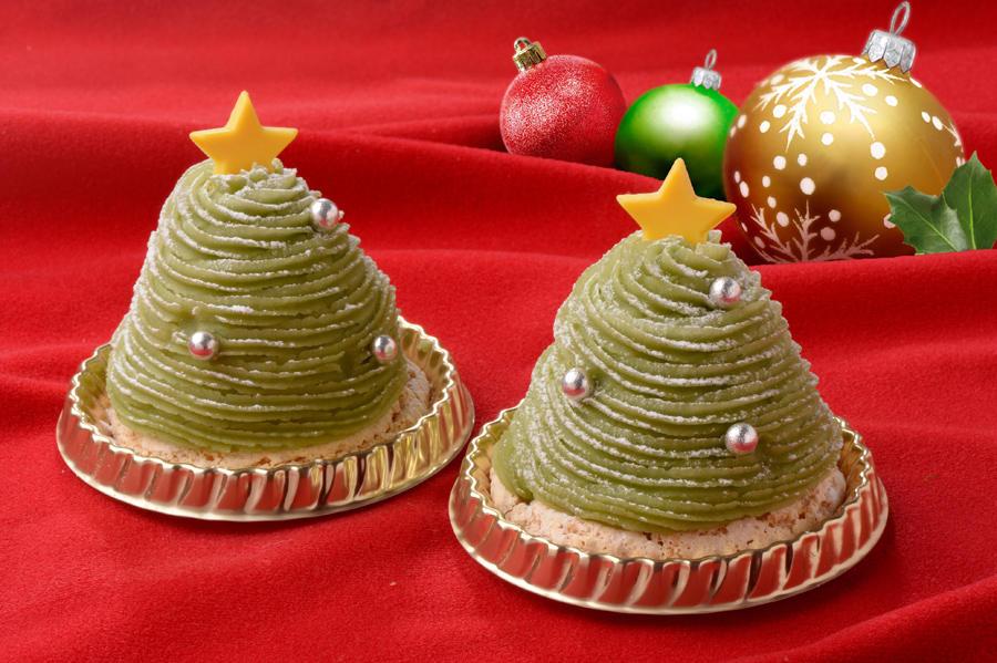 ▲自由が丘スイーツフォレスト2020クリスマス限定この香 抹茶のツリーモンブラン