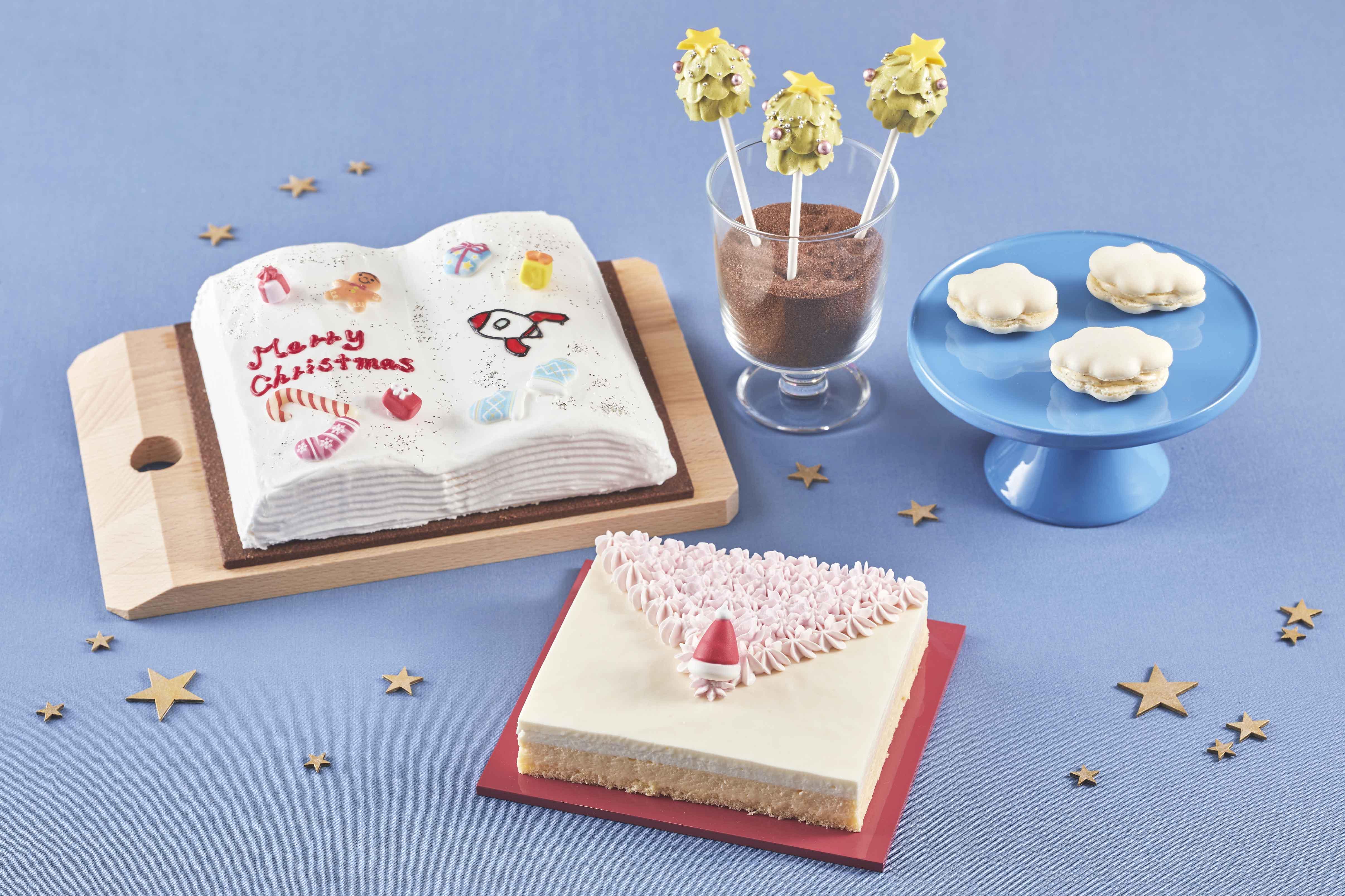 ▲ドレスアップ!ラズベリーショートケーキ ピンクのグラデーションが美しい繊細なスカートはふんわりした甘さ控えめのスポンジケーキ、中には甘酸っぱいラズベリージャムをサンド
