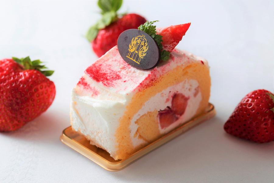 ▲いちごのロールケーキ