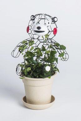 ▲「くまのトピアリー(植物アート)」ワークショップ 作品イメージ
