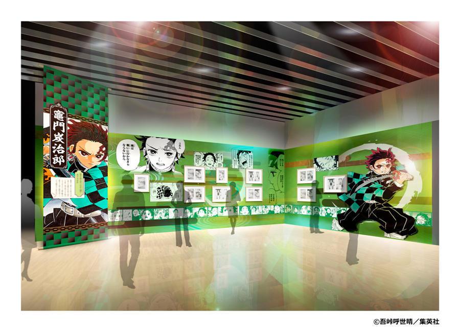 ▲展示イメージ 壱ノ章名場面をセレクションした原画展示は圧巻のボリューム!
