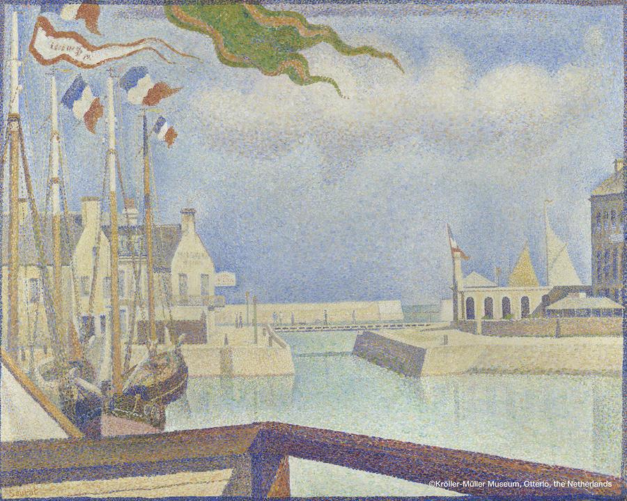 ▲ジョルジュ・スーラ 《ポール=アン=ベッサンの日曜日》 1888年 油彩、カンヴァス 66×82cm  クレラー=ミュラー美術館蔵