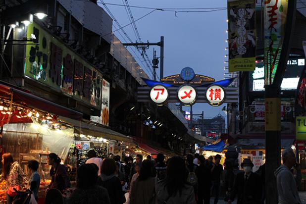上野アメ横商店街景観