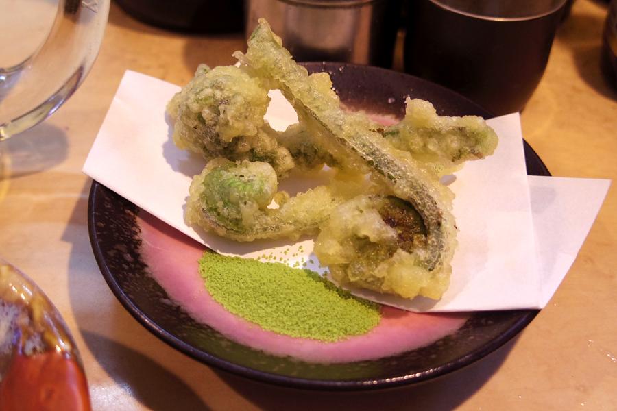 山菜 こごみ天ぷら