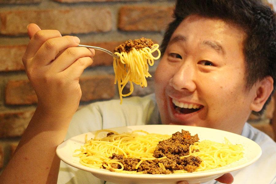 黒毛和牛のミートソーススパゲッティ