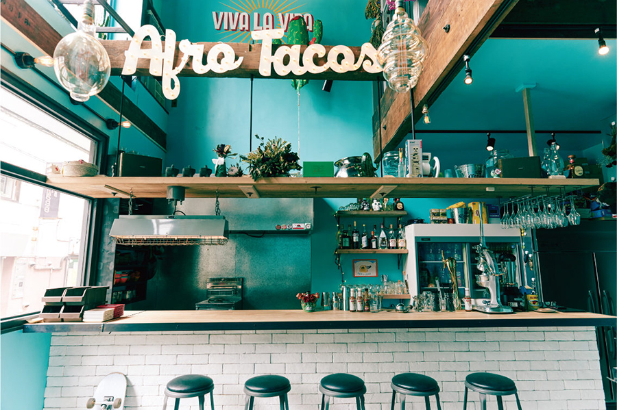 AFRO TACOS 店内