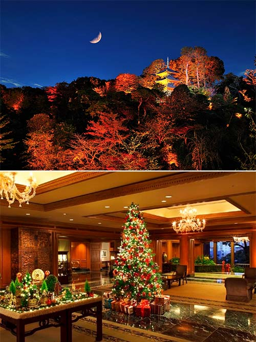庭園の紅葉ライトアップ&クリスマスデコレーション