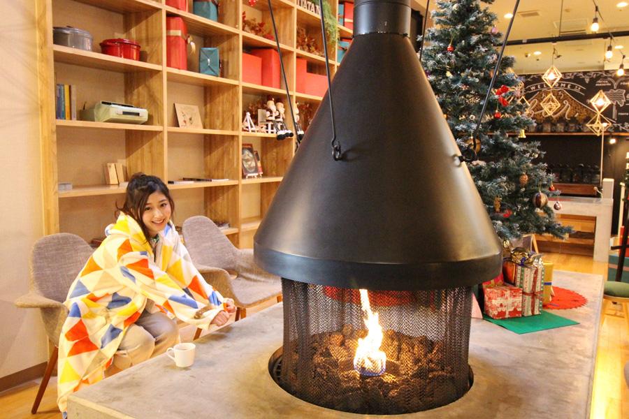 おふろcafe utatane暖炉