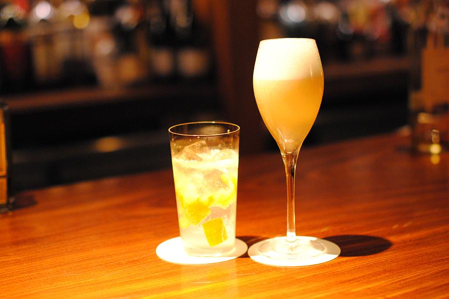 BARすがはら 渋谷本館 金柑のジントニックとラフランスのシャンパンカクテル