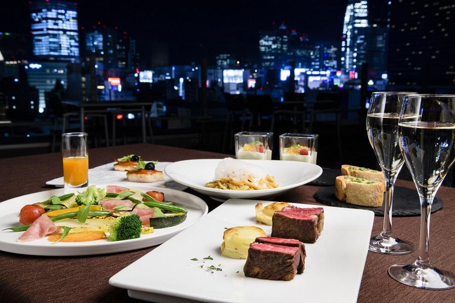 新宿グランベルホテルroof top bar & terrace G食事