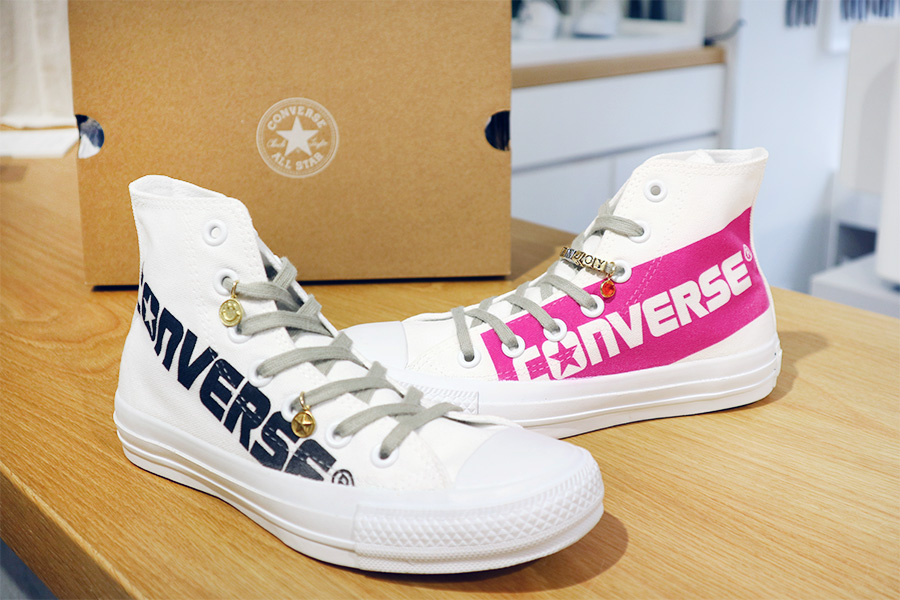 White atelier BY CONVERSE プリントカスタマイズ
