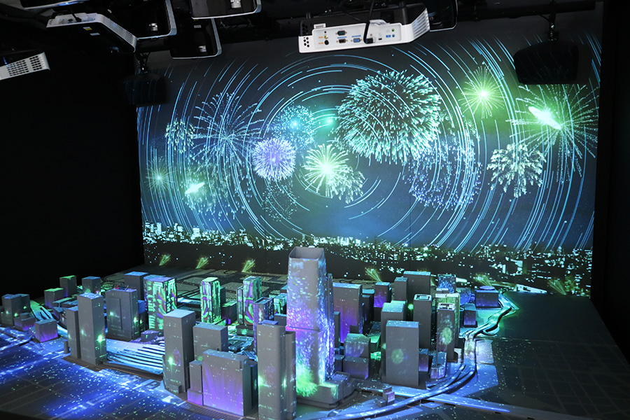 METoA Ginza 「Smooth Access City」のプロジェクションマッピング
