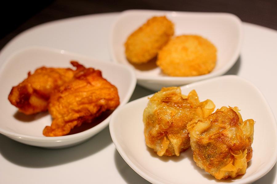 ホテルオークラレストラン横浜 サファイア 「信玄鶏のから揚げ」「生ハムコロッケ」「揚げシューマイ」