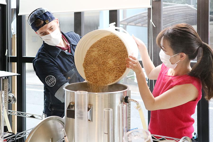 TOKYO ALEWORKS マッシング(糖化工程)