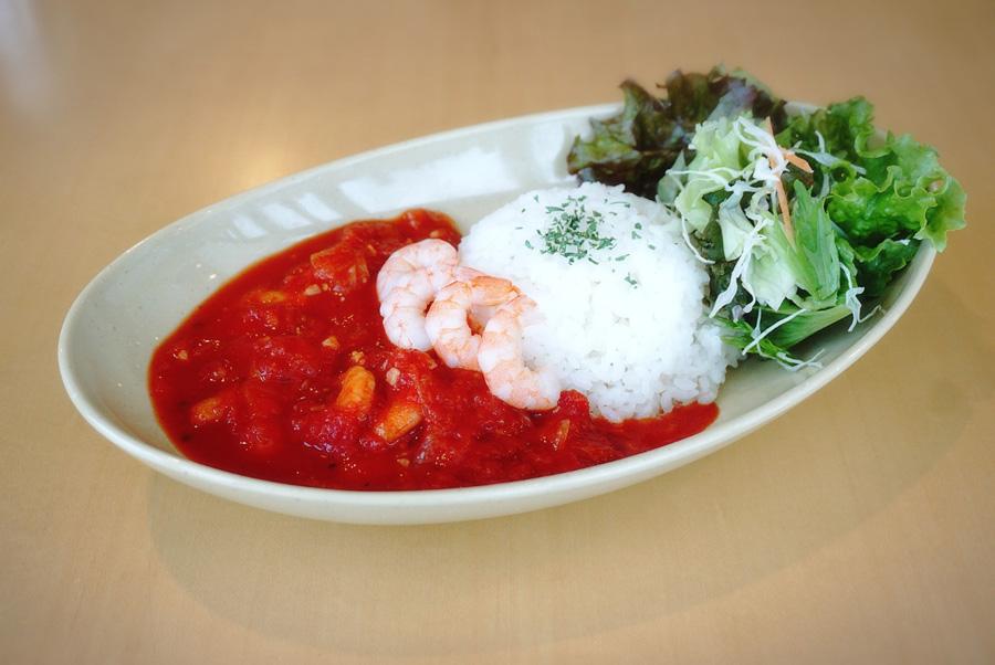 ポート テラス カフェ海老とトマトのシチュー