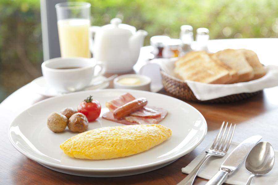 カフェ 朝食ブッフェ