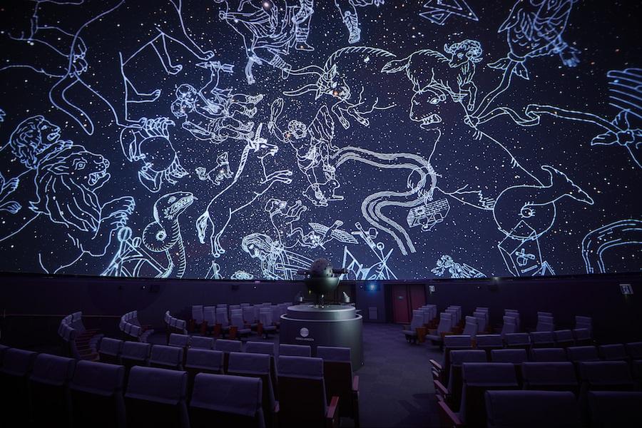 コスモプラネタリウム渋谷 投影イメージ