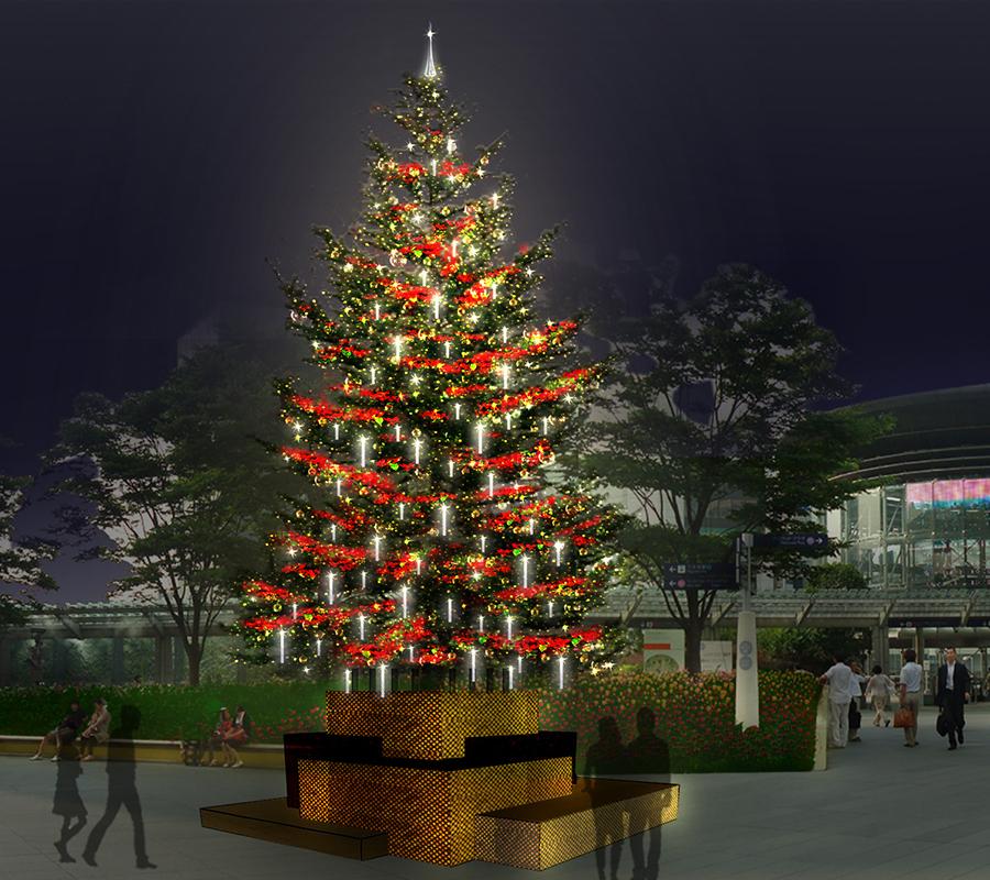 もみの木のクリスマスツリー