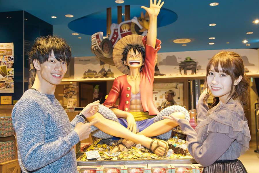 東京ワンピースタワー 宮ノ入勇人さん(左)、島村遙さん(右)