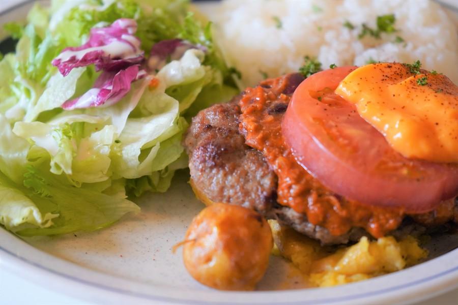 アメリカンチリチーズハンバーグ ライスプレート