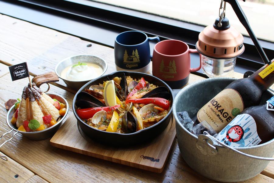 ogawa GRAND lodge CAFE料理