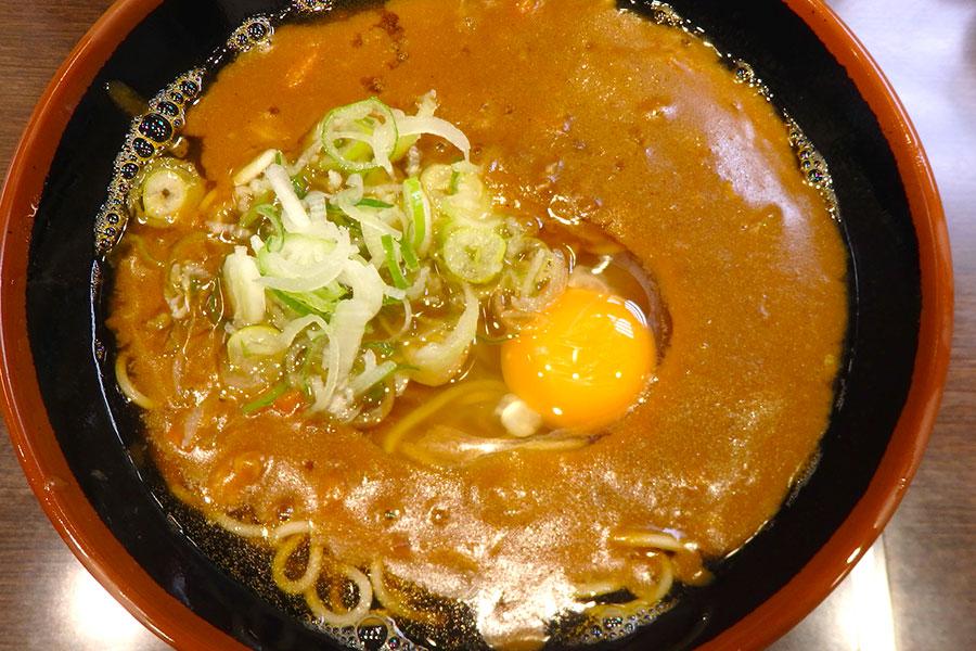 グル麺カレー蕎麦