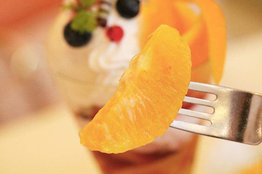 カシスオレンジのパフェ