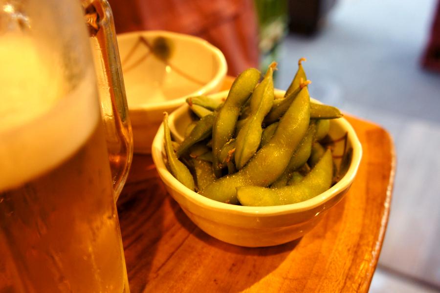 枝豆とオロナミンB
