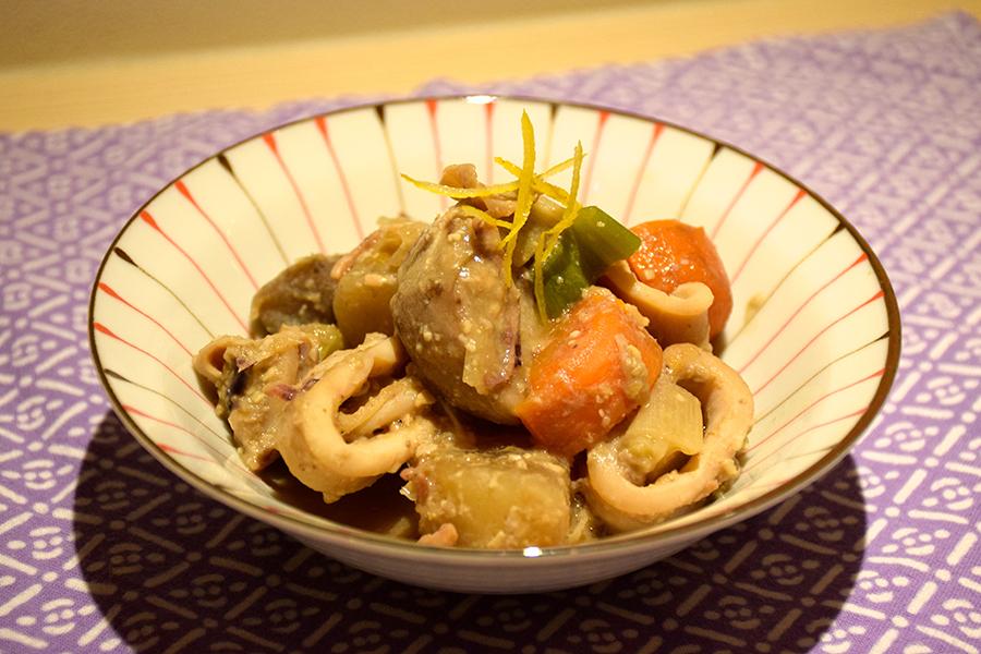 ヤリイカと野菜の煮物