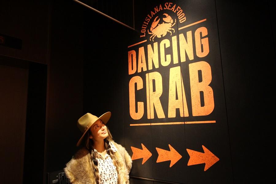 DANCING CRAB 東京看板