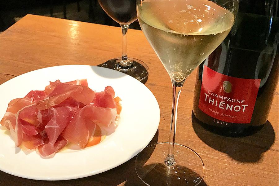 マルゴグランデ 生ハムとワイン