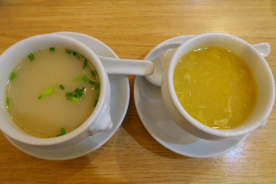 北京烤鴨店 コーンスープ、鴨スープ