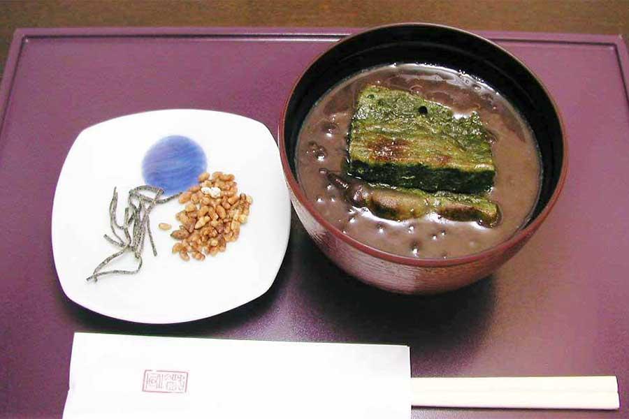 成城 あんや 茶房 焼き麸のお汁粉