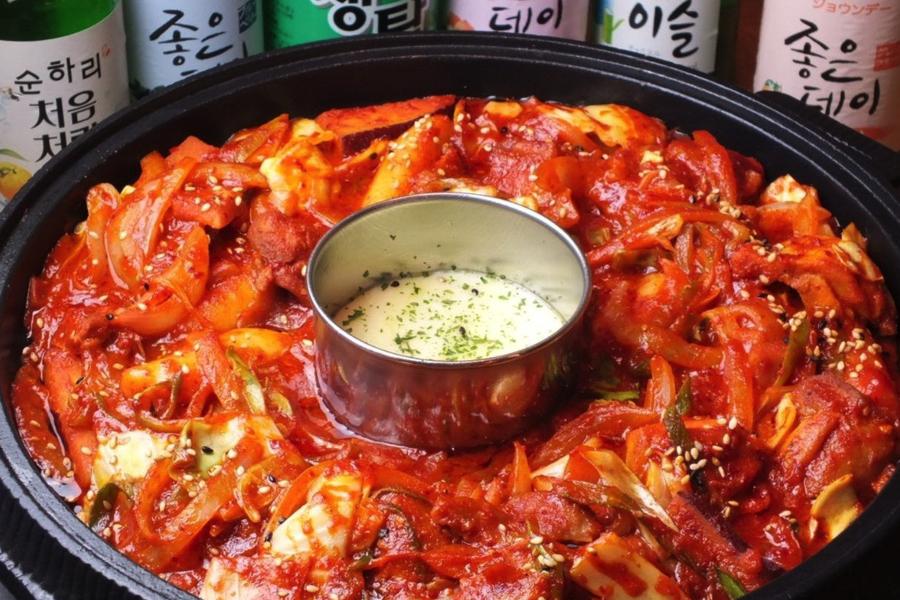 KOREAN FOOD ヘラン チーズタッカルビ