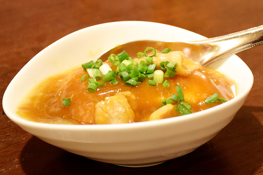 楽空カレーあんかけ豆腐