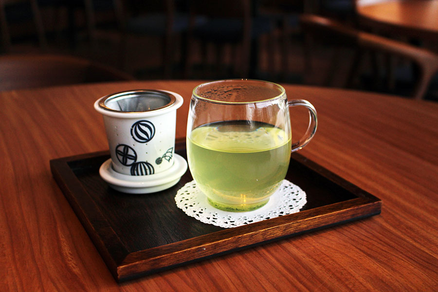 築地本願寺カフェTsumugi かぶせ茶、深蒸し茶