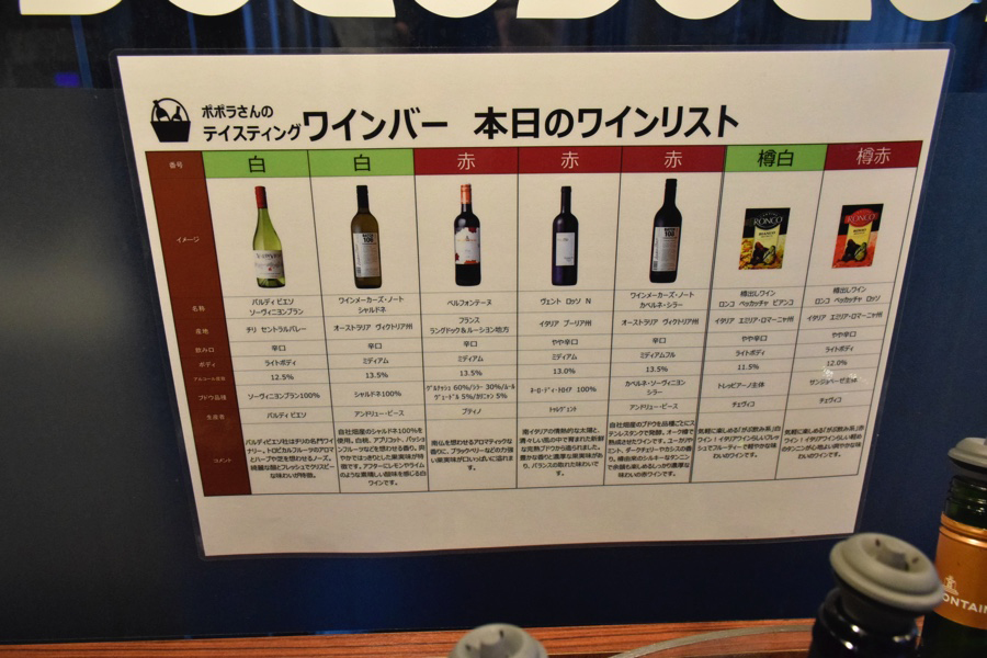 ポポラマーマ御徒町店 ワインリスト