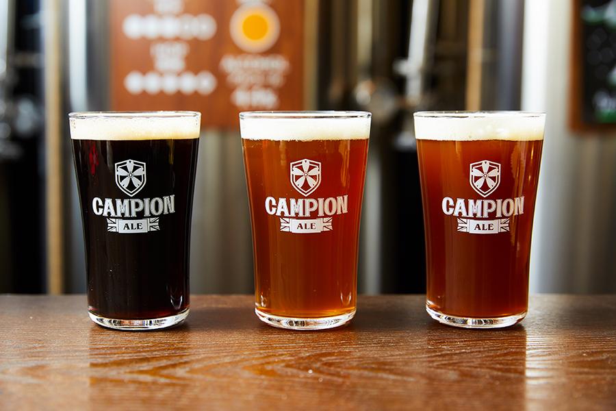 Campion Ale ポーター、ビター、レッド・ジンジャー